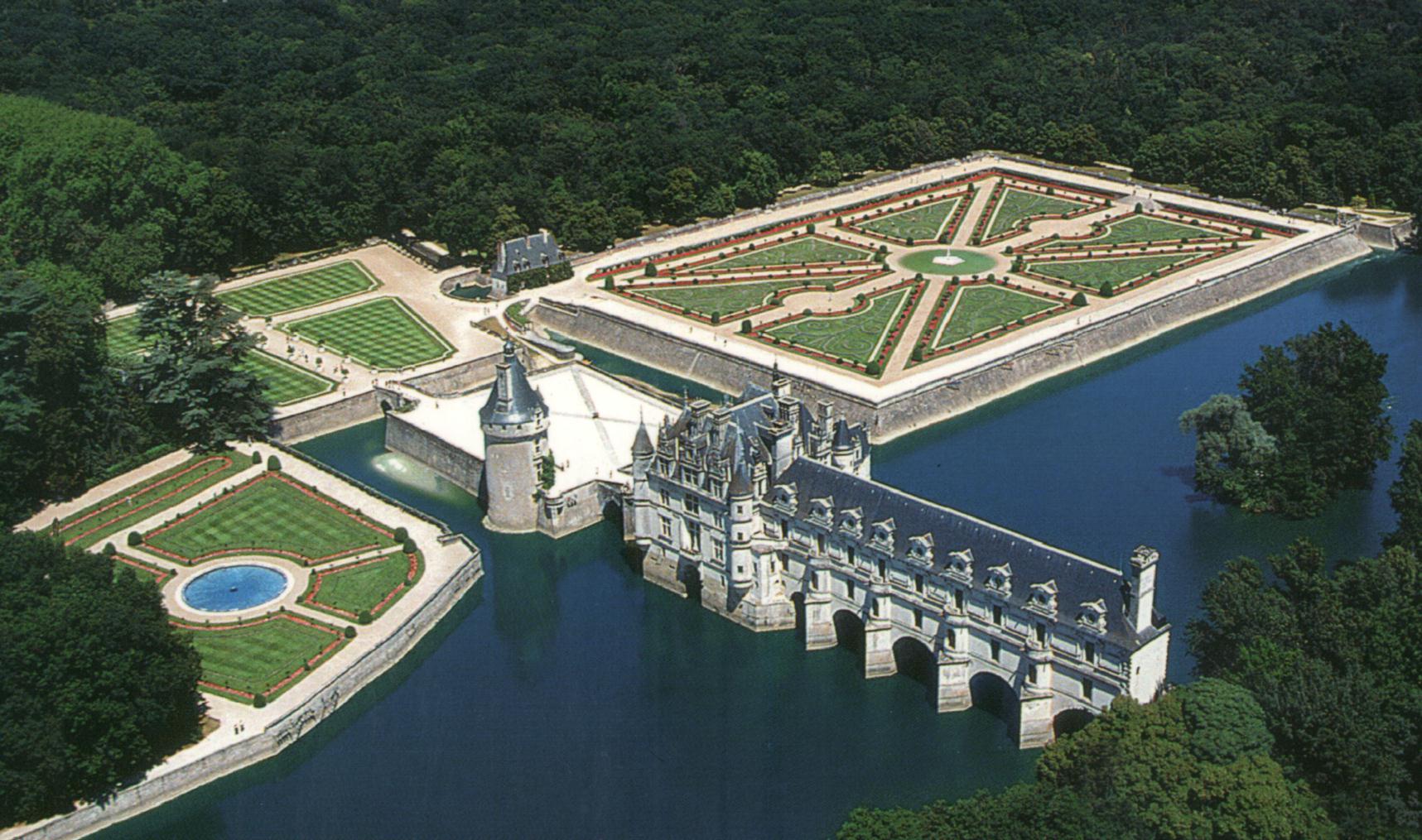 France indre et loire chenonceau chateau for Catherine de jardin